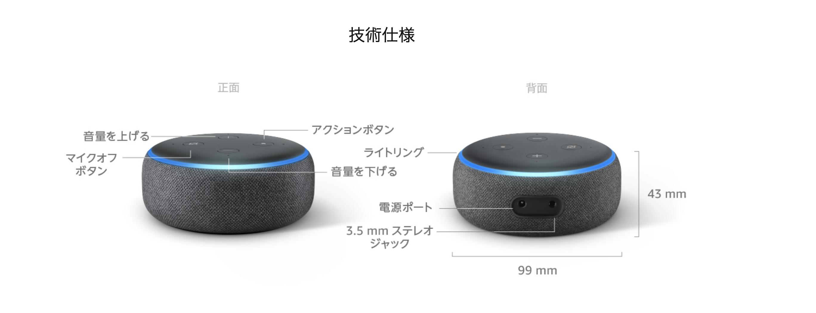 Echo Dot第3世代の性能紹介
