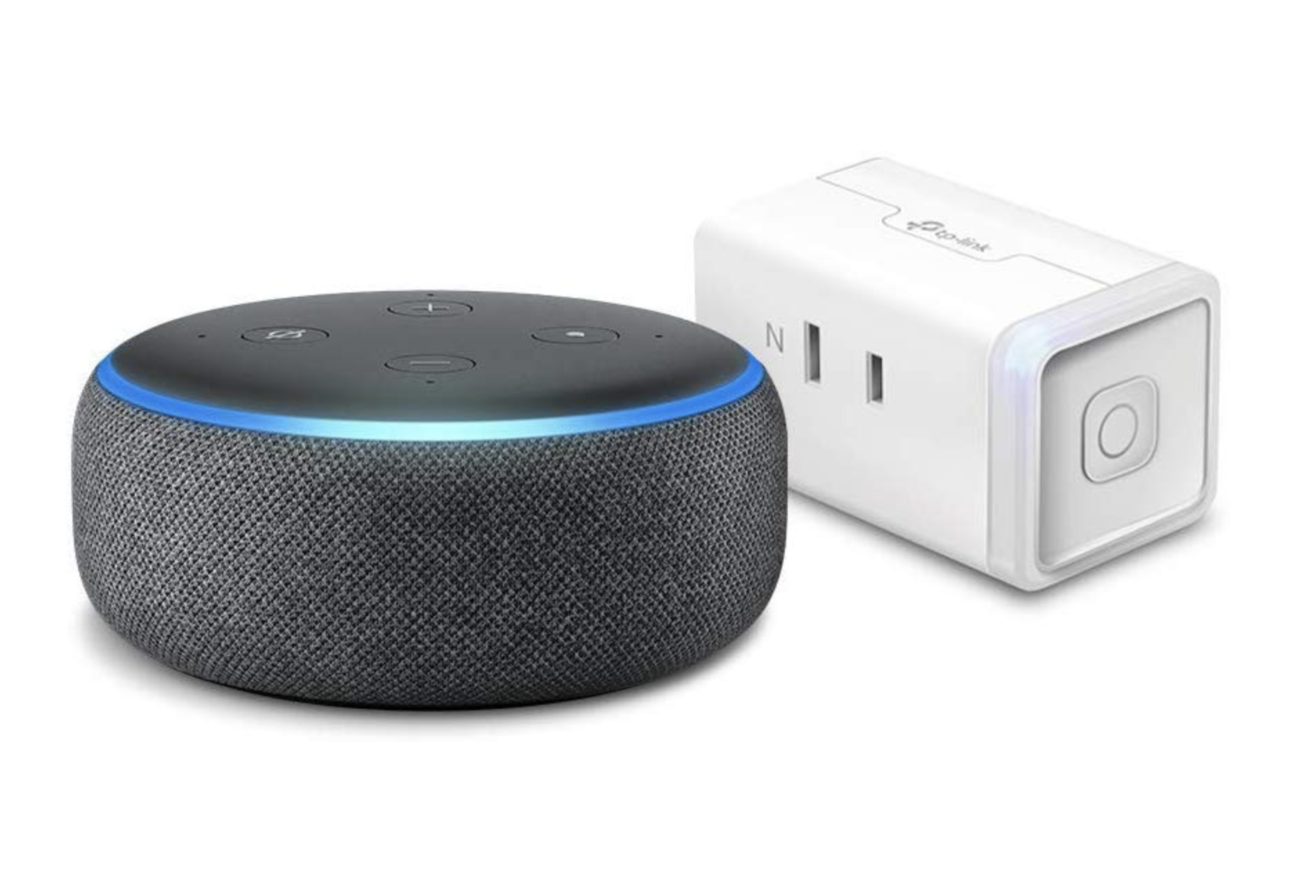 Echo Dot  第3世代 - スマートスピーカー with Alexa、チャコール + TP-Link WiFi スマートプラグ 直差しコンセント 音声コントロール