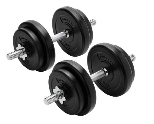 【Amazon限定ブランド】ボディテック(Bodytech) PEコーティングダンベル 可変式20kgセット(10kg × 2個セット)