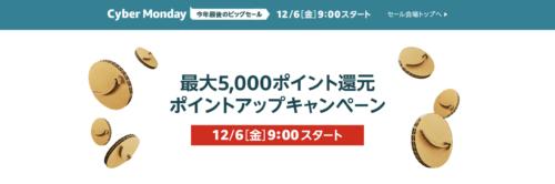 最大5000ポイント還元ポイントアップキャンペーン